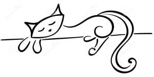 http://www.dreamstime.com/stock-image-silhouette-lying-black-cat-image16608211